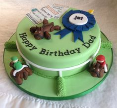 Horse Racing Birthday Cake by LizzieQ Creations, via Flickr