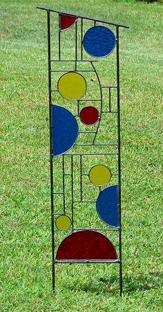 Grote gekleurd glas tuin decoratie Yard Art, beeldhouwkunst van de tuin, Tuin Decor, buiten Decor,