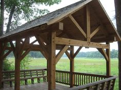 Backyard Pavilions | ... at Shavers Creek Environmental Center - Timber Frame Pavilions