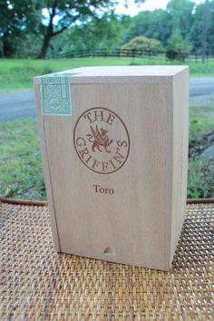 Cigar Box The Griffon's Wooden Slide Top Chest by IndustrialPlanet, $14.80