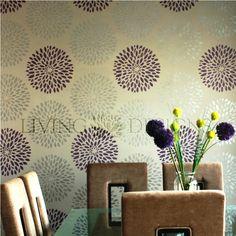 Plantilla Decorativa para pintar paredes y crear efectos como el papel tapiz y vinilos decorativos, solo necesitas pintura acrilica/vinilica, rodillo y listo!