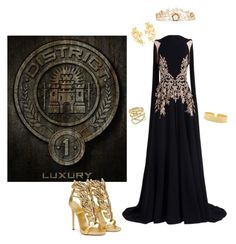 """Hunger Games - district 1"" by zwejka on Polyvore featuring Georges Hobeika, Giuseppe Zanotti, Pippa Small, Lana, Carolina Bucci and Rosantica"