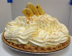 """Are you searching for """"pastries near me""""? Buttercream's bakeshop in downtown Apex, NC offers fresh baked pastries. Pastry Shop, Banana Cream, Eclairs, Cream Pie, Freshly Baked, Pastries, Tart, Bakery, Treats"""