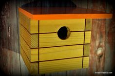 Modern Bird House via Etsy