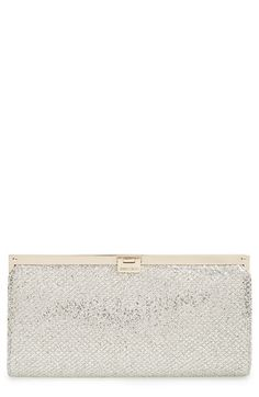Jimmy Choo 'Camille' Glitter Clutch available at Silver Clutch, Beautiful Bags, Jimmy Choo, Nordstrom, Glitter, Purses, My Style, Beauty, Don't Forget