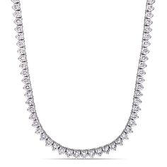 Miadora Signature Collection 14k Gold 9 1/2ct TDW Diamond Tennis Necklace, Women's