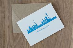 Johannesburg Skyline Letterpress Card by The Letterpress Company