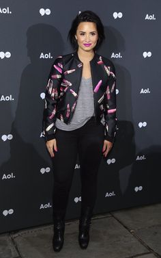 Demi Lovato at the #AOLNewFront in New York - May 3rd