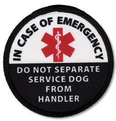 Service Dog Patch, In Case of Emergency Do Not Separate From Handler Vest Harness Cape Patches Personalized Service Dog Gear by CreativeClam Service Dog Training, Service Dogs, Training Your Dog, True Service, Training Tips, Service Dog Patches, Psychiatric Service Dog, Support Dog, Military Dogs