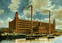 Broadstone Mill in its heyday