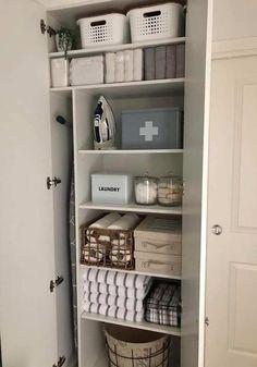 Laundry Cupboard, Utility Cupboard, Airing Cupboard, Linen Cupboard, Cupboard Shelves, Laundry Area, Laundry Closet, Linen Closet Organization, Home Organization Hacks