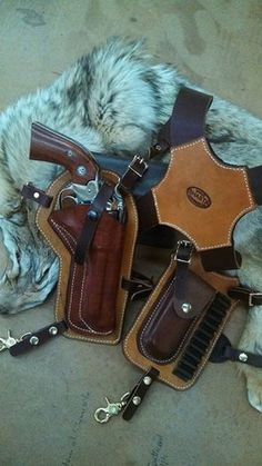 This is our Huckleberry Shoulder Holster! Made for any caliber pistol....