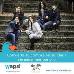 Colabora @ONGMundoJusto y @TCALosTreboles a través de tu compra online sin pagar + por ello! http://wapsi.org/MundoJusto