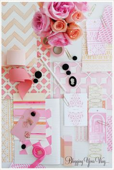 pink and peach palette