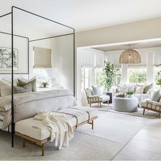 Home Bedroom, Master Bedroom, Bedroom Decor, Master Suite, Serene Bedroom, Instyle Home, Lounge Areas, Beautiful Bedrooms, Home Fashion