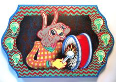 Grey Bunny Drummer by Tripper Dungan, via Flickr