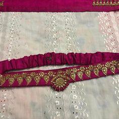 Saree Belt, Saree With Belt, Wedding Saree Blouse Designs, Blouse Designs Silk, Saree Wearing Styles, Mirror Work Blouse Design, Kalamkari Dresses, Waist Belts, Sleeves Designs For Dresses