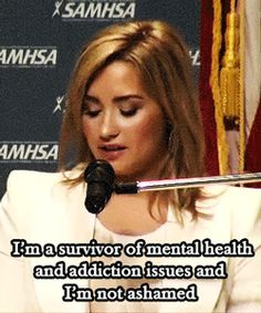 I'm not suicidal or cut or have eating disorders, but Demi is my role model because she's a warrior.