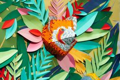 I've Spent 2 Weeks Making This Animal Mural From 1000s Of Small Paper Pieces | Bored Panda