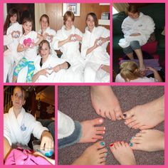 Spa party for little girls. Manicures & pedicures for all.