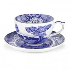 Spode Blue Italian Jumbo Cup and Saucer - Blue Italian - Collections - Spode USA