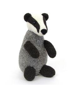 Hawthorn Handmade Badger amigurumi crochet kit pattern #crochet #gift #cute #animal #craft