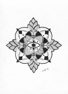 #mandala #black and white #drawing #art #tattoo #design