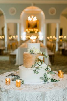 Gold and White Weddi