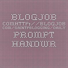 blogjob.comhttp://blogjob.com/saintpblogging/daily-prompt-handwritten/