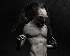 """Head full of Horns..., Andrew """" Boog"""" Faithfull on ArtStation at https://www.artstation.com/artwork/BWXzA"""