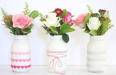 Rustic Valentine's Day * Shabby Chic Wedding Ideas Turned Into Everyday DIY Decor Inspiration! Vintage Mason Jars Turned Vases * Romantic Country Living!