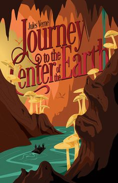 """Read """"A Journey to the Center of the Earth"""" by Jules Verne available from Rakuten Kobo. A Journey to the Center of the Earth is a science fiction novel by Jules Verne. The story involves German professor Otto. Paper Book Covers, Best Book Covers, Beautiful Book Covers, Book Cover Art, Book Cover Design, Book Design, Book Art, Jules Verne Books, Earth Book"""