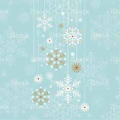 Vintage Retro Hanging Snowflake Design royalty-free stock vector art