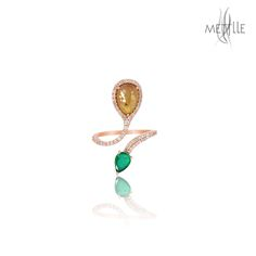Gift this Designer Ice Diamond Gold Ring to your loved one.