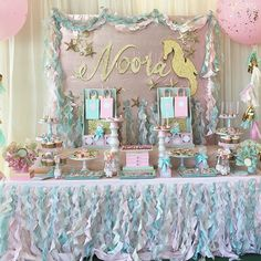 Mermaid party - so pretty!