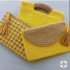 """New Cheap Bags. The location where building and construction meets style, beaded crochet is the act of using beads to decorate crocheted products. """"Crochet"""" is derived fro Crochet Clutch Bags, Crochet Handbags, Crochet Purses, Crochet Bags, Crochet Clutch Pattern, Love Crochet, Beautiful Crochet, Knit Crochet, Crochet Flowers"""