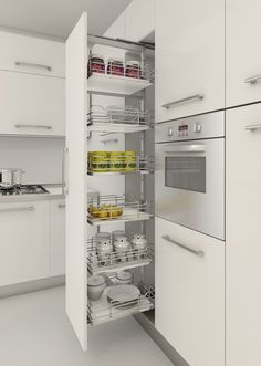 Kitchen Pull Out Drawers, Kitchen Pulls, Kitchen Pantry, New Kitchen, Kitchen Storage, Kitchen Ideas, Kitchen Organizers, Pantry Ideas, Gally Kitchen