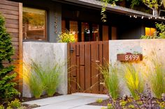 Modern Courtyard With Concrete Walls and Heavy Metal Gate | HGTV Ultimate Outdoor Awards >> http://www.hgtv.com/design/packages/hgtv-ultimate-outdoor-awards/2016/love-at-first-sight/courtyard-with-modern-metal-gate?soc=pinterest