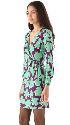 MOM!!!! CAN I HAVE THIS? Diane von Furstenberg Melis Wrap Dress