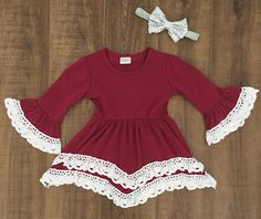 Burgandy Lace Dress #boutique-outfits #dresses #new #perfect-sets