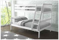 Simply Versatile - This OXFORD Triple Bunk sleeps 3 and can be split into a single and double bed for when the kids outgrow the bunk. Available in White, Dark Grey, Light Grey and Pine. Safe Bunk Beds, Toddler Bunk Beds, Bunk Beds With Storage, Wood Bunk Beds, Bunk Beds With Stairs, Kid Beds, Beds Uk, Memory Foam, Triple Bunk Beds