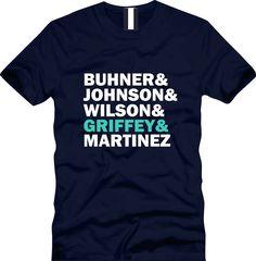 1995 Seattle Mariners. Griffey Johnson Buhner Martinez Wilson. $20.00, via Etsy.