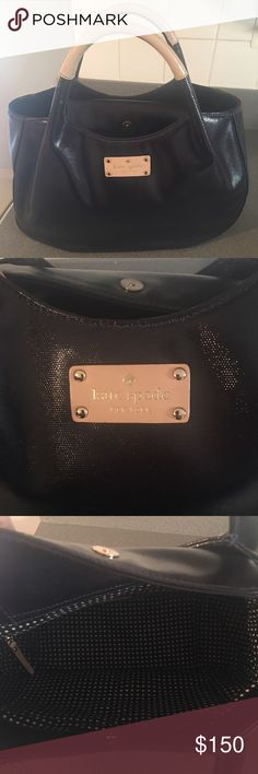 Authentic Kate Spade handbag Beautiful Kate Spade handbag used once excellent condition Navy blue kate spade Bags Totes
