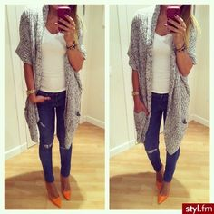 Love this casual outfit just not the shoes Mode Outfits, Casual Outfits, Fashion Outfits, Womens Fashion, Casual Clothes, Fall Winter Outfits, Autumn Winter Fashion, Mode Style, Style Me