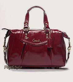 Coach Ashley Patent Leather Handbag F20460