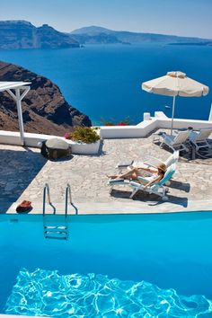 Pool at the Canaves Oia Hotel Santorini