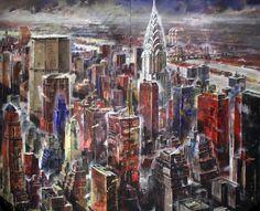 New York , painted by Francesco Santosuosso