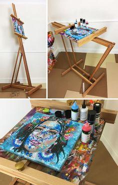 Studio Easel Into A Painting Table , idea, art, creation, atelier, artiste peintre http://www.amylee.fr/2015/09/studio-easel-into-painting-table/