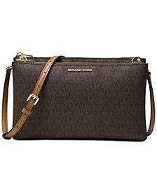 d25bd80b2c0a24 Michael Kors crossbody bag in brown Michael Kors Purse Crossbody, Brown Crossbody  Purse, Handbags