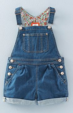 Mini Boden Short Overalls (Toddler Girls, Little Girls & Big Girls)